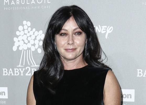FILE - In this Nov. 14, 2015 file photo, Shannen Doherty attends the 4th Annual Baby2Baby Gala in Culver City, Calif. (Photo by John Salangsang/Invision/AP, File)