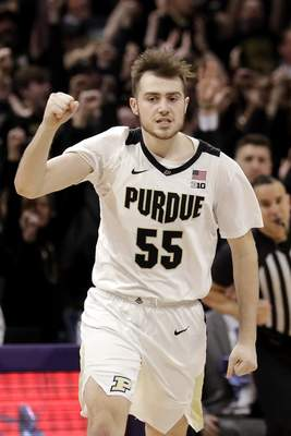 Nam Y. Huh | Associated Press Purdue guard Sasha Stefanovic hit a game-winning 3-pointer against Northwestern on Saturday and is making nearly half of his 3s at home this season.