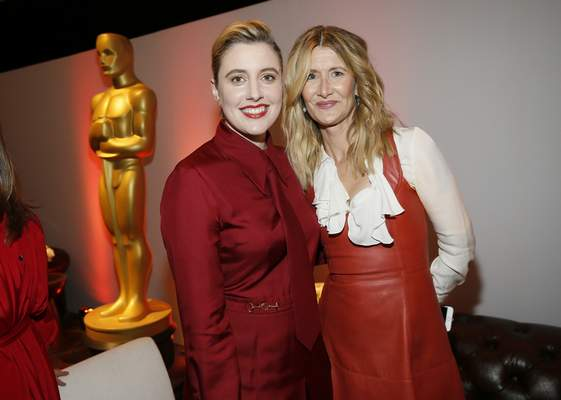 Greta Gerwig, left, and Laura Dern attend the 92nd Academy Awards Nominees Luncheon at the Loews Hotel on Monday, Jan. 27, 2020, in Los Angeles. (Photo by Danny Moloshok/Invision/AP)
