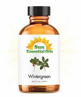 Recalled bottle of Sun Essential Oils - Wintergreen