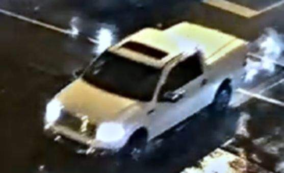 Courtesy Fort Wayne Police Department: Fort Wayne police are looking for the person who may be driving this truck, seen in a surveillance photo from Sunday night's shooting.