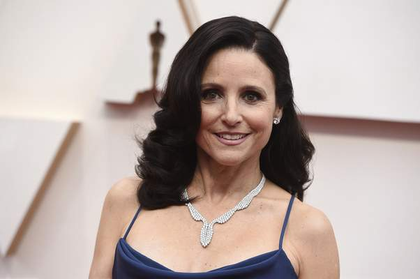Julia Louis-Dreyfus arrives at the Oscars on Sunday, Feb. 9, 2020, at the Dolby Theatre in Los Angeles. (Photo by Jordan Strauss/Invision/AP)