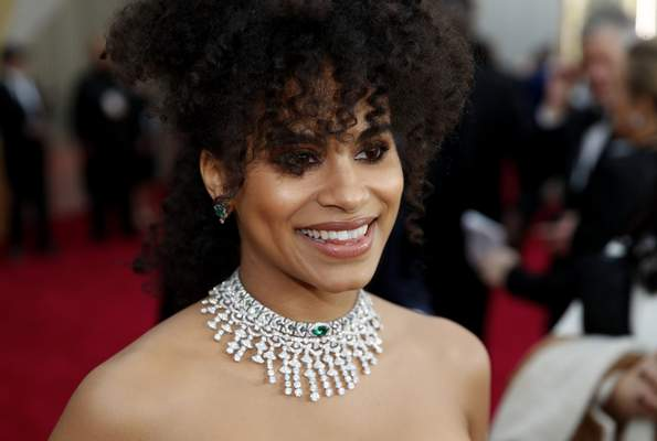 Zazie Beetz arrives at the Oscars on Sunday, Feb. 9, 2020, at the Dolby Theatre in Los Angeles. (AP Photo/John Locher)