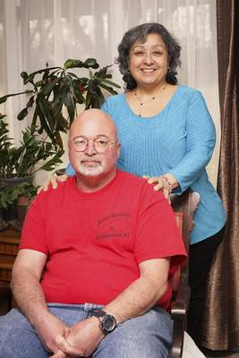 Mike Moore   The Journal Gazette Lilly and David Freon found each other after a stint of online dating.