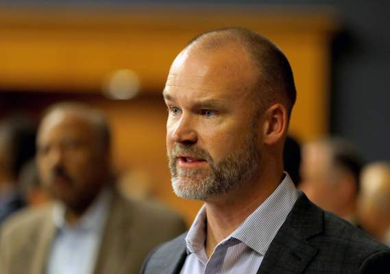 Chicago Cubs manager David Ross appears during the baseball team's convention, Friday, Jan. 17, 2020, in Chicago. (Patrick Kunzer/Daily Herald via AP)