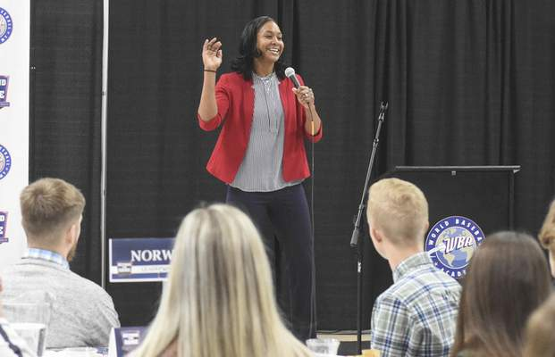 Michelle Davies | The Journal Gazette Tamika Catchings was the keynote speaker at the Ash Center Tuesday afternoon.