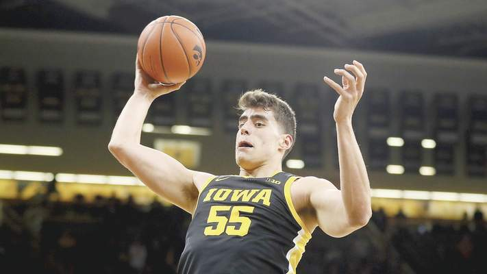 Associated Press Iowa center Luka Garza will be a major concern for the Hoosiers tonight at Assembly Hall.