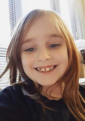 This undated photo provided by the Cayce Department of Public Safety shows Faye Marie Swetlik, who has been missing since shortly after getting off her school bus near her South Carolina home Monday, Feb. 10, 2020. (Cayce Department of Public Safety via AP)