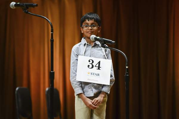 Achyut Ethiraj, a student at Cedar Canyon Elementary School, won the 66th annual Allen County Journal Gazette Spelling Bee on Thursday.