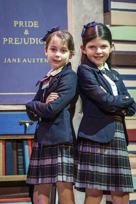 "Merritt Lloyd, left, and Alivia Wheeler play the title character in alternating performances of ""Matilda."""