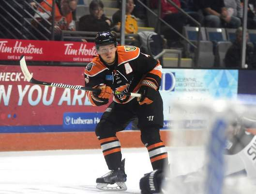 Mike Moore | The Journal Gazette: Jason Binkley has left the Komets to finish the season in England.