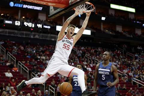 Hartenstein Associated Press: The Mad Ants have acquired the rights to Isaiah Hartenstein, seen here playing in the NBA for Houston earlier this season.