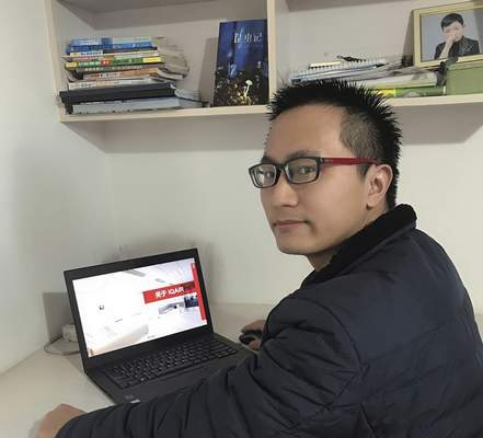 Michael Xiong's apartment in Chibi, near Wuhan in central China's Hubei province, has turned into a temporary office for the salesman of household air purifiers.