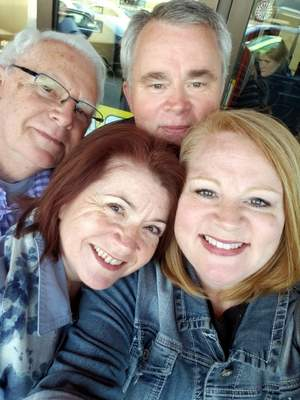 Courtesy From left, Danny Warrick, his son Dennis Warrick, daughter Brandi Antu and daughter Carmen, whom he met for the first time in May in Germany.