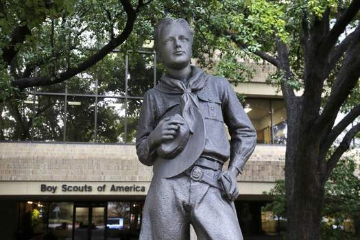 Boy Scouts Bankruptcy Associated Press A statue stands outside the Boy Scouts of America headquarters in Irving, Texas. The Boy Scouts of America has filed for bankruptcy protection as it faces a barrage of new sex-abuse lawsuits. (LM OteroSTF)