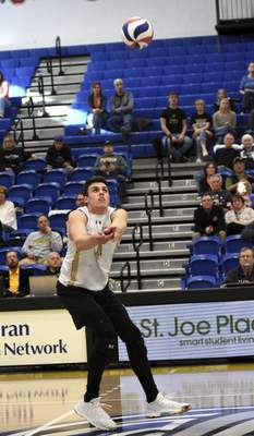Katie Fyfe | The Journal Gazette Purdue Fort Wayne senior volleyball player  Pelegrin Vargas spent the summer playing with the Puerto Rican national team. He says the experience has improved his game.