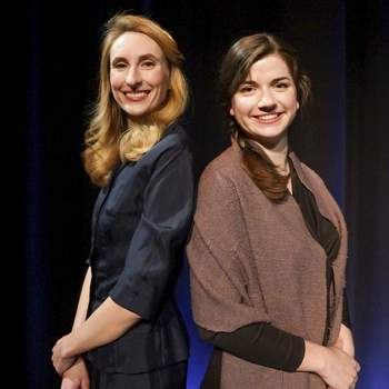 Mike Moore | The Journal Gazette  Anna Macke, left and Ruth Mussmann, portray Ruth in two plays that are part ofAll For One Productions'