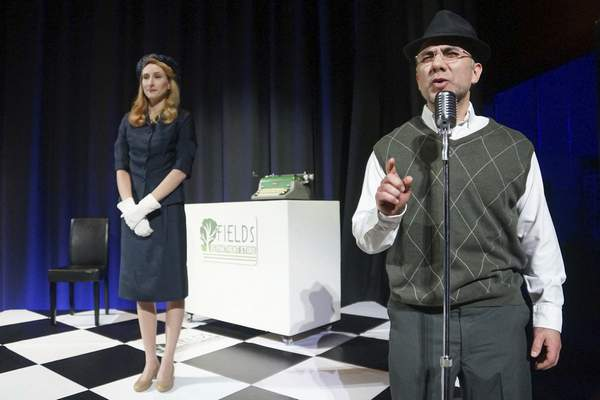 Mike Moore | The Journal Gazette  Anna Macke as Ruth, left and Eric Black as KR in