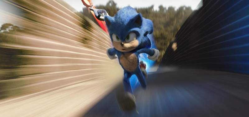 """Paramount Pictures  """"Sonic the Hedgehog"""" came out of the gate fast, speeding to the top spot at the weekend box office."""