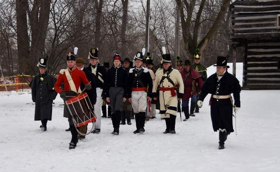 Courtesy photos Re-enactors will participate in a Winter Garrison on Saturday at the Old Fort on Spy Run Avenue.