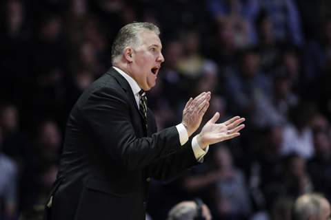 Michigan Purdue Basketball Purdue head coach Matt Painterwas disappointed in his team's effort in a 71-63 loss to Michigan today.(AP Photo/Michael Conroy) (Michael Conroy STF)