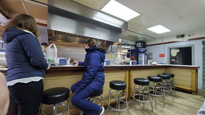 The counter area at Jeny's Tacos in Kendallville.
