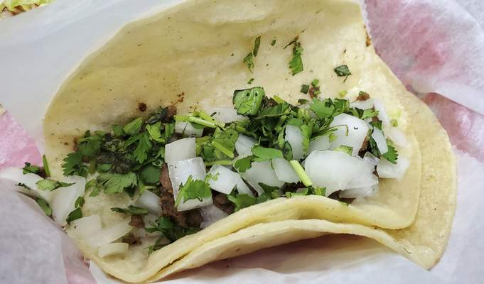A ground beef taco from Jeny's Tacos in Kendallville.