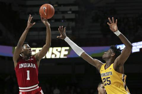 Indiana Minnesota Basketball Indiana's Al Durham (1) and his fellow upperclassmen will have to make sure the Hoosiers are ready to go against No. 9 Penn State at Assembly Hall today.(AP Photo/Stacy Bengs) (Stacy Bengs FRE)