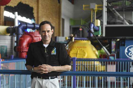 Photos by Michelle Davies   The Journal Gazette Martin Fisher, executive director at Science Central, says plans to add a planetarium are moving smoothly as the center celebrates 25 years.