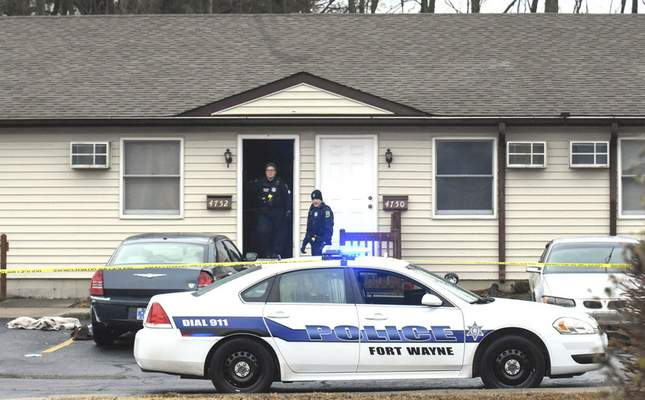 Michelle Davies | The Journal Gazette A woman died after a stabbing Tuesday afternoon in the 4700 block of Jason Drive. Police say they have a person in custody.