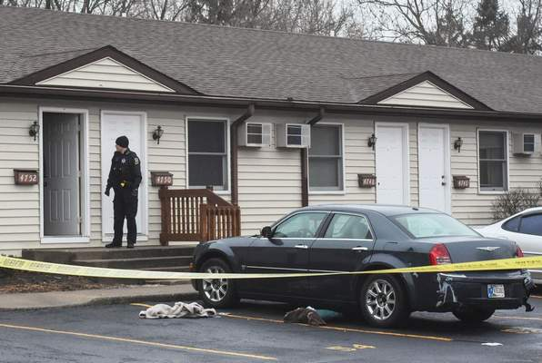 Michelle Davies | The Journal Gazette  Police responded just before 1 p.m. Tuesday to a report of a stabbing in the 4700 block of Jason Drive.
