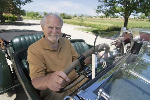 Obit Clive Cussler This 2007 image released by G.P. Putnam's Sons shows author Clive Cussler riding in a classic car. Cussler died on Monday, Feb. 24, 2020 at his home in Scottsdale, AZ. He was 88. (Ronnie Bramhall/G.P. Putnam's Sons via AP) (Ronnie Bramhall HONS)