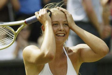 Sharapova Retires Tennis FILE - In this July 1, 2004, file photo, Russia's Maria Sharapova reacts after defeating Lindsay Davenport in their Women's Singles semi-final match on the Centre Court at Wimbledon. (AP Photo/Anja Niedringhaus, File) (Anja Niedringhaus STF)