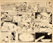 """Flash Gordon Artwork-Auction Associated Press  Original artwork for the """"Flash Gordon"""" comic strip, drawn by Alex Raymond and published in January 1934, will be on the auction block March 31. (HONS)"""