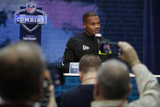 NFL Combine Football Associated Press Running back J. K. Dobbins is the first Ohio State rusher to gain 2,000 yards and is second on the school's rushing list behind Archie Griffin – the only other Buckeye to have three straight 1,000-yard seasons. (Michael ConroySTF)