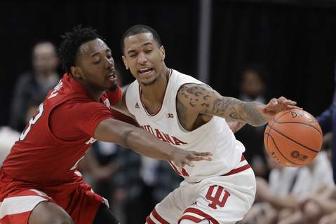 B10 Nebraska Indiana Basketball Indiana's Devonte Green had 12 points, four assists and three rebounds in the Hoosiers' 89-64 Big Ten Tournament victory over Nebraska tonight. (AP Photo/Darron Cummings) (Darron Cummings