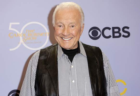 FILE - In this Oct. 4, 2017, file photo, Lyle Waggoner arrives at the