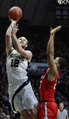 Associated Press  Purdue forward Evan Boudreauxis one of three Boilermakers graduating seniors that missed out on playing in the Big Ten Tournament and maybe the NCAA Tournament in their final season because the event was canceled.(AP Photo/R Brent Smith)