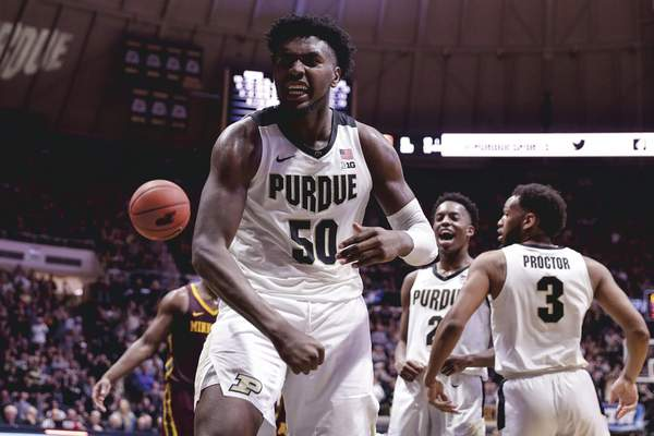 Associated Press Purdue sophomore forward Trevion Williamsled the Boilermakers in scoring and rebounding in a season that was highlighted by his 36 points and 20 rebounds in a loss to Michigan.