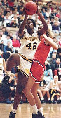 Gooden in action for Snider High School in 1992.