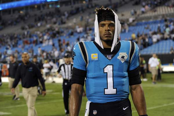 Associated Press The Panthers released quarterback Cam Newton on Tuesday after nine seasons.