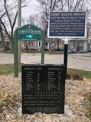 Courtesy John Nolan  At the end of Camp Allen Street is Camp Allen Park where the first major league baseball game was played.