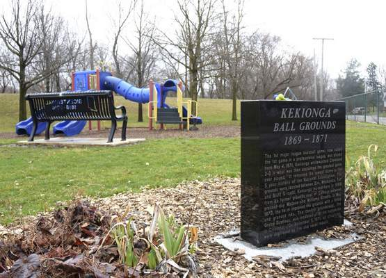 Katie Fyfe | The Journal Gazette The site where Camp Allen Park now sits is where the first professional game was played May 4, 1871.