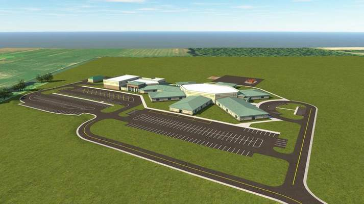 Courtesy  Northwest Allen County Schools announced the opening of Aspen Meadow Elementary School, shown in a rendering, will be delayed until 2021.