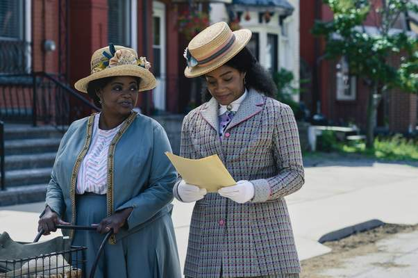 This image released by Netflix shows Octavia Spencer, left, and Tiffany Haddish in a scene from