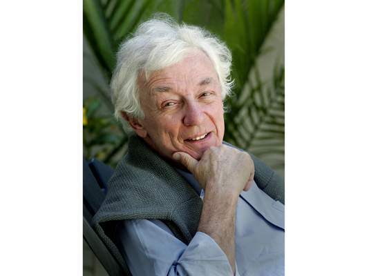 This April 10, 2005 photo released by Holt shows author Richard Reeves. The author, political commentator and historian died Wednesday, March 25, 2020, in Los Angeles. He was 83 and had been in failing health. (Patricia Williams/Holt via AP)