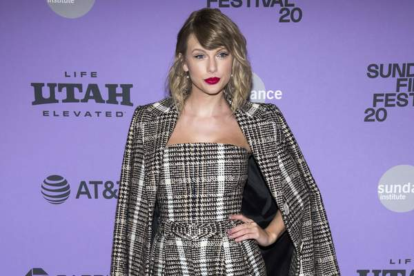 FILE - This Jan. 23, 2020 file photo shows Taylor Swift at the premiere of