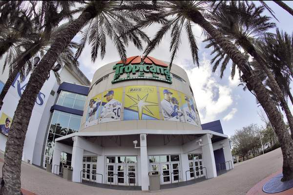 Associated Press  Tropicana Field, the home of the Tampa Bay Rays, is deserted Thursday, the daythe Rays were scheduled to open against the Pittsburgh Pirates.