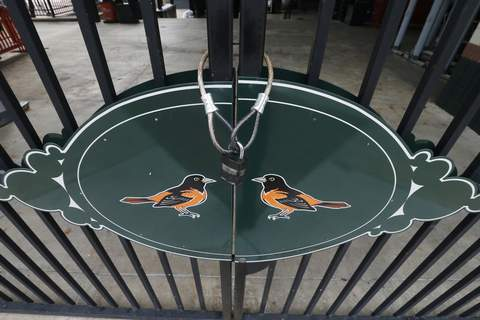 Virus Outbreak Opening Day Photo Gallery Associated Press Gates were locked at Oriole Park at Camden Yards on Thursday, the day the Baltimore Orioles were supposed to hold their home opener. (Steve HelberSTF)