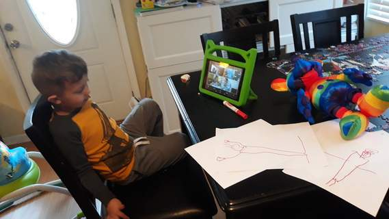 Courtesy Ivy Tech Community College early childhood education students are staying connected with preschoolers like Sawyer Michael-Keller, 4, through technology during the coronavirus-prompted restrictions.